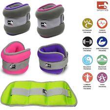 Sporteq Ladies Ankle Wrist Weights 2 x 1.5 kg & 1 Kg Fitness Gym/Running/Cardio