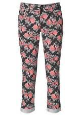Body Flirt Damen Hose 7/8 Druckhose Blumig Stretch Jeans bunt Umschlag 908670