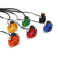 "Universal CNC Rotating Bar Clamp & Start Stop Kill Switch Button 7/8"" Handlebar"