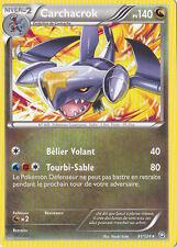 Carchacrok -Noir & Blanc-Dragons Exaltés-91/124-Carte Pokemon France Neuve