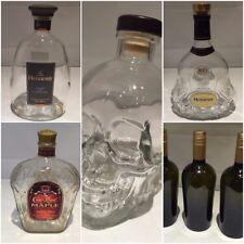 Glass Skull, Hennessy, Whisky Bottle  - EMPTY