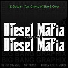2 Diesel Mafia Vinyl Decal Sticker Funny Mechanic Heavy...