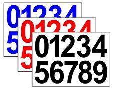 Vinyle nombre autocollants 75mm, 0-9, 3 ensembles autocollante plusieurs couleurs gratuit p&p