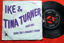 "IKE & TINA TURNER PROUD MARY/FUNKIER.. 1971 INDIA 7""PS"