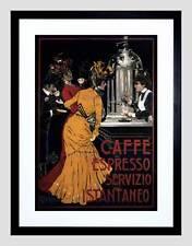 Pubblicità Caffè ESPRESSO SERVIZIO ISTANTANEO Italia Periodo edoardiano Framed Art Print b12x4153