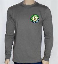 Volcom Stone Balboa Double Logo Long Sleeve Shirt Gray Mens New NWT