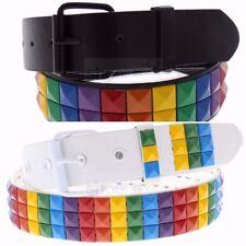 LGBT Gay Pride Rainbow Black Unisex Men's Women's Belt (Buy One, Get One Free)