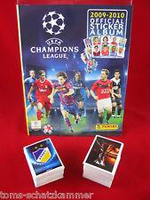 PANINI CHAMPIONS LEAGUE 2009/2010 SET COMPLETO + ALBUM = tutti gli adesivi CL 09/10