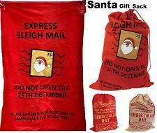 Xmas Large Christmas Stockings Bags Sacks Hessian Santa Gift Sack Decoration Bag