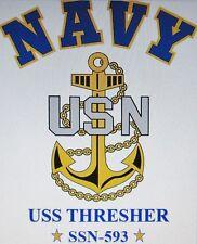USS THRESHER  SSN-593* SUBMARINE * U.S NAVY W/ ANCHOR* SHIRT