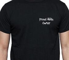 PROUD AKITA OWNER T SHIRT DOG OWNER GIFT BREED BLACK