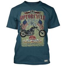King Kerosin Man Vintage T-Shirt - Born To Be Free Rockabilly Biker Old School