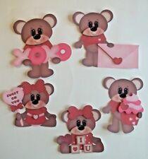 3D- U Pick- Love Valentines Boy Girl Bear Heart Couple Card Paper Embellishment