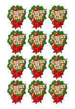 Planche de stickers JOYEUX NOEL - Papier adhésif adhesive autocollant Noël
