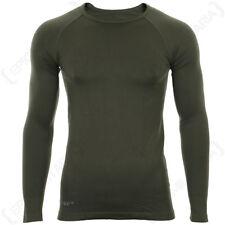 Olive Drab Long Sleeve Sports T-Shirt - Training Base Layer Exercise Army New