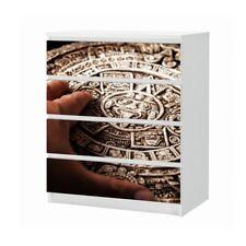 Set Möbelaufkleber für Ikea Kommode MALM 4 Fächer Relikvie antik Folie 25B1465