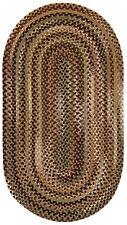 "Capel Rugs ""Bangor"" Wool Variegated Country Braided Oval Rug Sandy Beige #700"