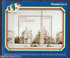 ITALIA 2011 FOGLIETTO 150 ° ANNIVERSARIO UNITA' D'ITALIA EM. CONGIUNTA MNH** 190
