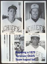 1979 80 83 Syracuse Chiefs Postcard Set Breaks - Choose Players from List, RARE!