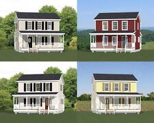 24x24 Houses -- PDF Floor Plans -- Model 6