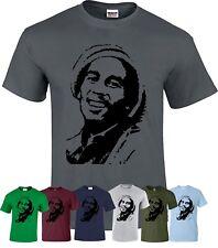 Bob Marley Music Reggae T-Shirt Smoke Weed Jamaican Ragga Music Xmas Gift Top