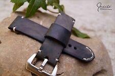 Handmade watch strap Vintage Gray Genuine leather welcome custom orders