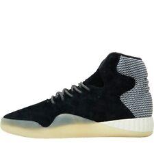 adidas Instinct Hi Tops Mens Tubular Trainers Suede Leather Black Off White