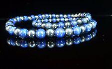 Lapis Lazuli Hematite Necklace Therapeutic Gemstone