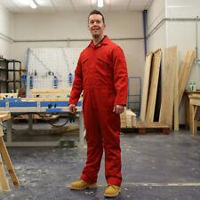 Stormchaser 9oz Klopman Overalls Coveralls Boiler Suit Mechanic DIY - Red