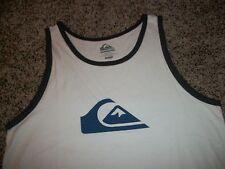 f4a3ae044fe02 QUIKSILVER New NWT Mens Sleeveless Tank Top Shirt White Logo MEDIUM LARGE XL