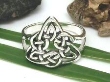 Keltischer Knoten Ring 925 Silber Dreiecksknoten Kelten Wicca Damen Herren
