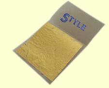 Feuille d'or Feuilles à dorer 24K 100% Veritable la Base Pour Dorure 50mmx50mm