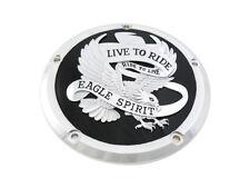 Eagle Spirit Derby Cover Black,for Harley Davidson,by V-Twin