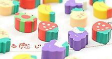 Mini Children's Pencil Eraser Rubber Fruit Novelty Cute Cartoon Toy Stationery