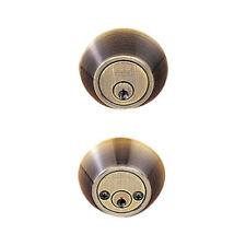Antique Brass Double Cylinder Standard Deadbolt - Everything Doors