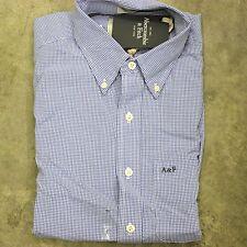 NWT L Men Abercrombie Fitch KILBURN MOUNTAIN Button Dress Shirt