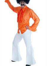 70s Disco Fancy Dress Mens White Flares