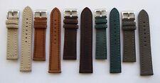 VINTAGE LOOK SUEDE WATCH STRAP GREEN / BROWN / TAN / GREY / BEIGE - 20MM - 24MM