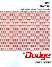 1966  66   DODGE CHARGER/DART/CORONET SHOP MANUAL