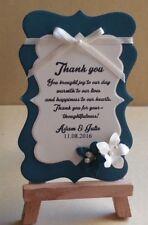 Hand made vintage teal wedding gift tags 20,50,100,150,200
