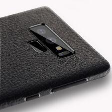 Samsung Galaxy Note 9 Hülle Slim Silikon Case Original Leder Design + Schutzglas