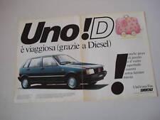 advertising Pubblicità 1983 FIAT UNO D