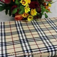 Acrylic Dress Cloth Black Ivory Cream Scotch Tartan Plaid Fabric High Quality