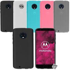 Housse etui coque silicone gel fine pour Motorola Moto G6 + verre trempe