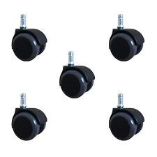 5 Stück 50 mm HARTBODENROLLEN STUHLROLLEN BÜROSTUHL ROLLEN BÜROSTUHLROLLE A1