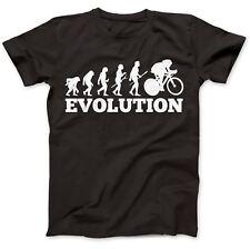 Cycling Evolution Biker Cyclist T-Shirt 100% Premium Cotton Gift Present