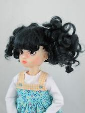 Monique HEART Wig Off Black Size 6-7 YoSD Dollfie shown on Kaye Wiggs Millie