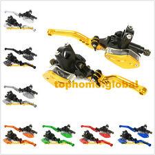 Universal Motorcycle Hydraulic Brake Clutch Master Cylinder Reservoir Lever PAIR