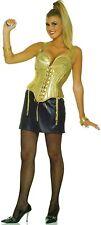 Madonna Womens Costume Cone Bra Corset Top Skirt Gold Pointy Singer 80s Pop Star