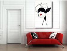 Rene Gruau Woman Sketch Reproduction Canvas Art Poster Print Wall Decor